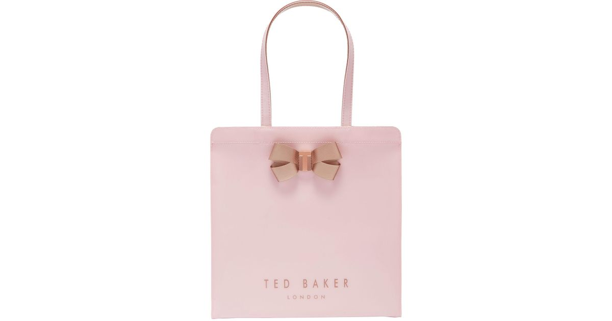 aea3bc82c70c Ted Baker Vallcon Bow Large Icon Shopper Bag in Pink - Lyst