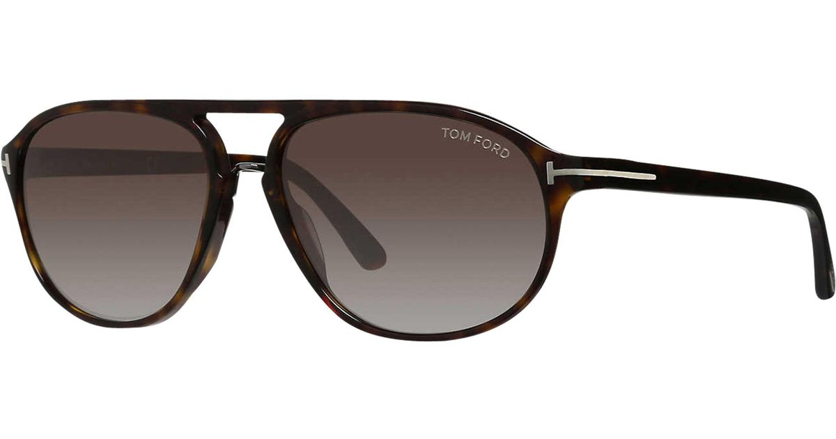f592078336 Tom Ford Ft0447 Jacob Gradient Aviator Sunglasses in Brown for Men - Lyst