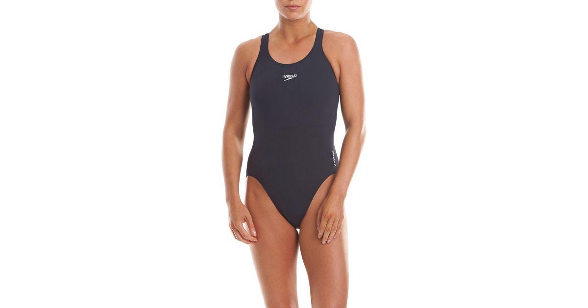 9e947418e8 Speedo Endurance+ Medalist Swimsuit in Blue - Lyst