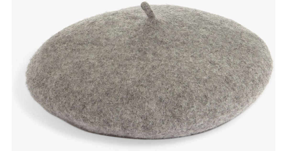 b7570205 Phase Eight Teresa Beret Hat in Gray - Lyst