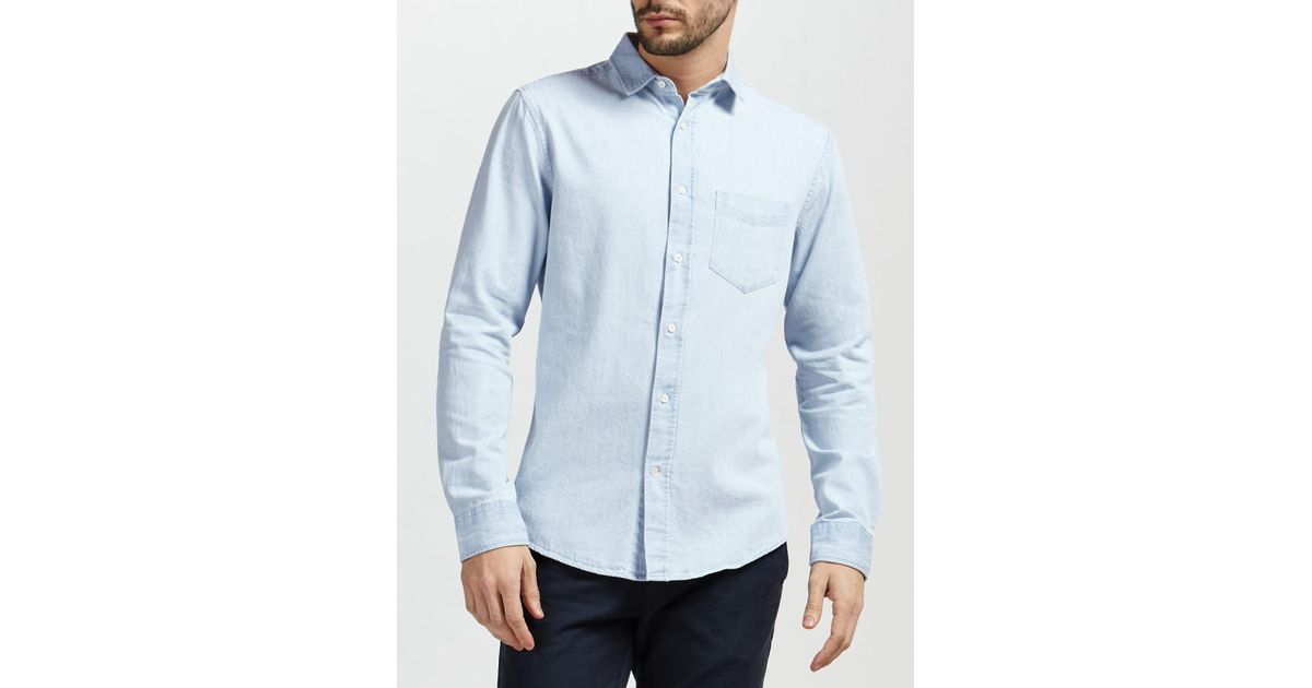 d0315274daa GANT Indigo Denim Shirt in Blue for Men - Lyst