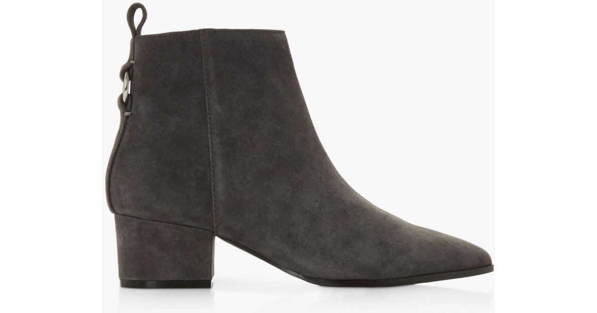 b007a5ca114 Steve Madden Clover Ring-detail Suede Ankle Boots in Gray - Save 25% - Lyst