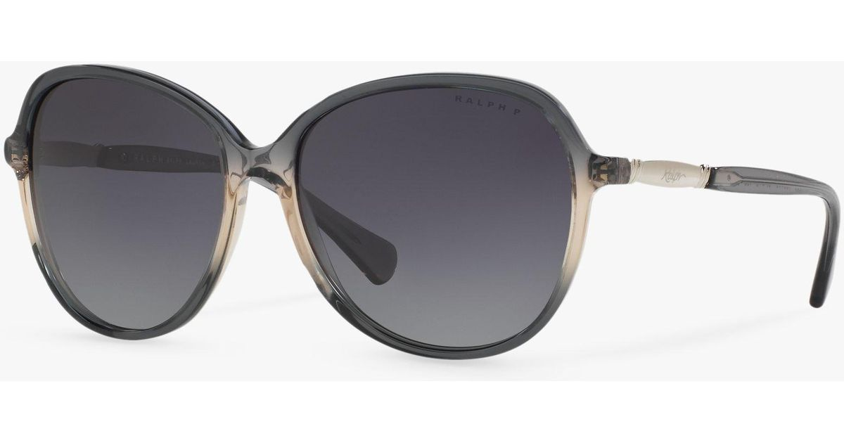 6c4fd58eaaa8 Ralph Lauren Ralph Ra5220 Women's Polarised Oversize Square Sunglasses in  Gray - Lyst