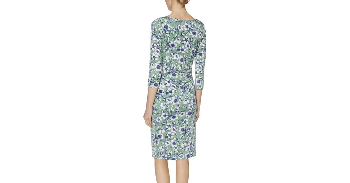 38fe004f8c John Lewis Gina Bacconi Floral Print Jersey Dress in Green - Lyst