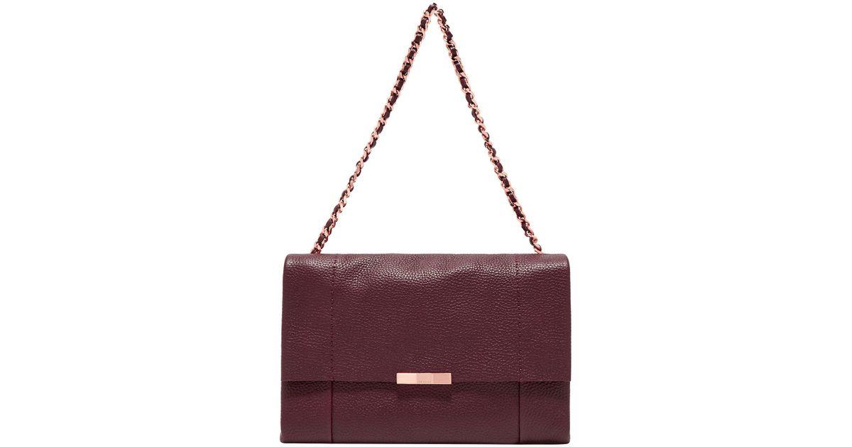 22efaed2154a Ted Baker Genifer Leather Shoulder Bag in Purple - Lyst