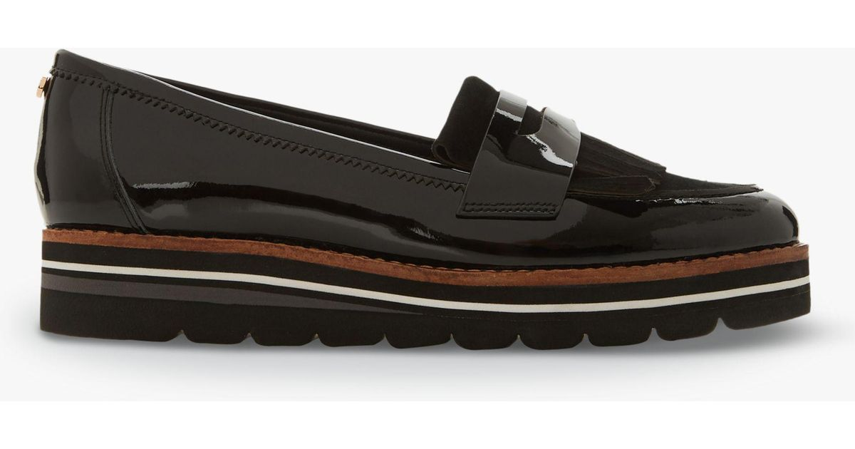 f045583529f Dune Gracella Flatform Leather Loafers in Black - Save 20% - Lyst