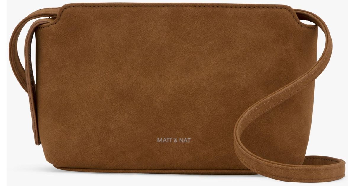 b9f6bc408c6 Matt & Nat Raven Vegan Cross Body Bag in Brown - Lyst