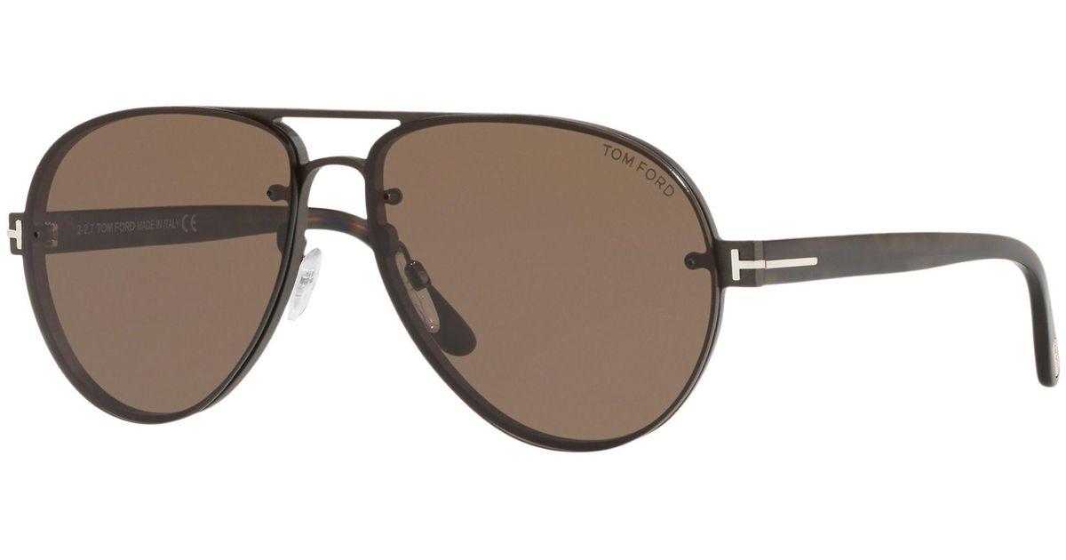 f45b8bdf82c9d Tom Ford Ft0622 Men s Alexei-02 Aviator Sunglasses in Brown for Men - Lyst