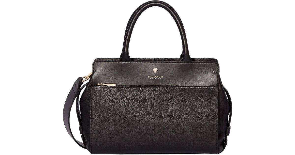 8cf4ef4121 Modalu Berkeley Leather Small Grab Bag in Black - Lyst