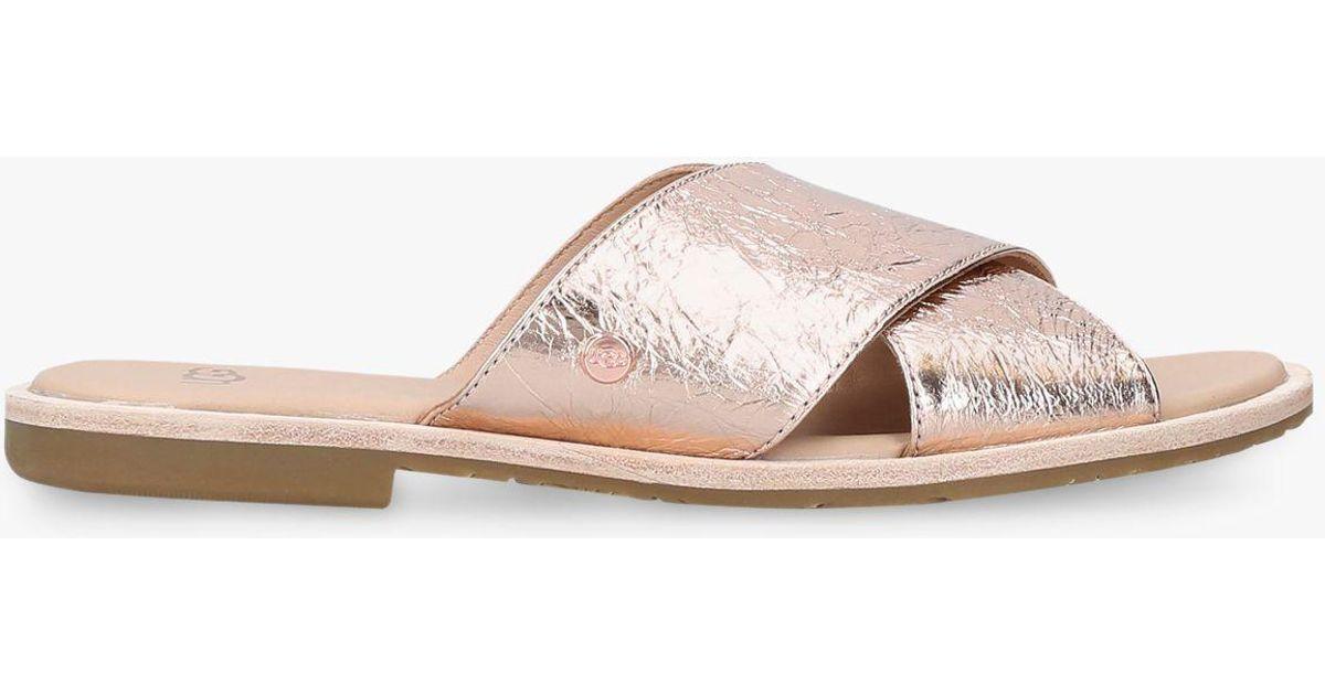 d113289c21a Ugg - Multicolor Joni Cross Strap Slip On Sandals - Lyst