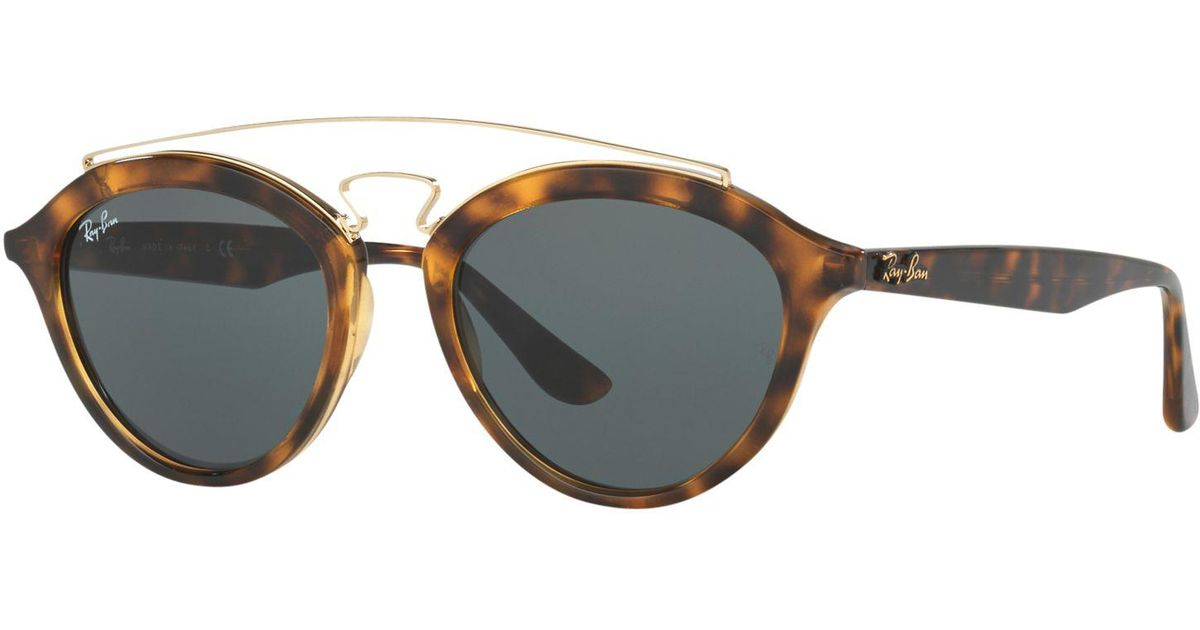 701f63bb1e Ray-Ban Rb4257 Oval Sunglasses in Gray - Lyst