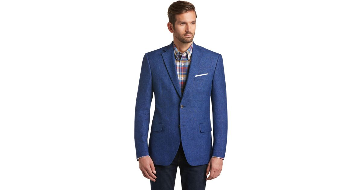 7c9d87e2b A. Bank Executive Collection Tropical Blend Traditional Fit Woven Sportcoat  Clearance in Blue for Men - Lyst