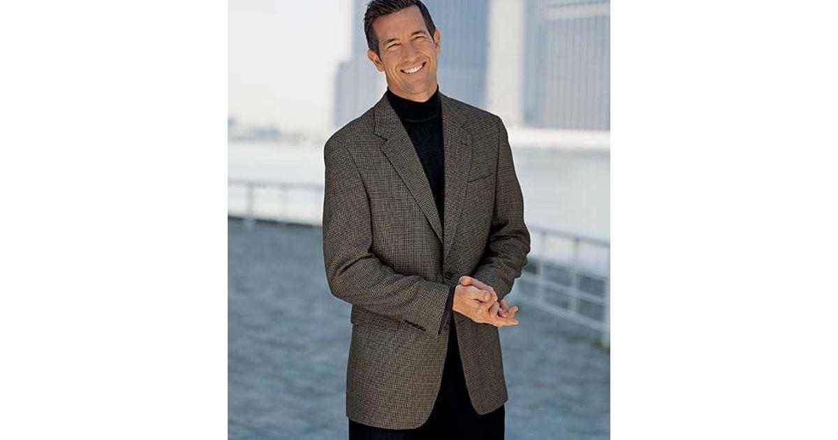 jos a bank executive 2 button silk wool check sportcoat