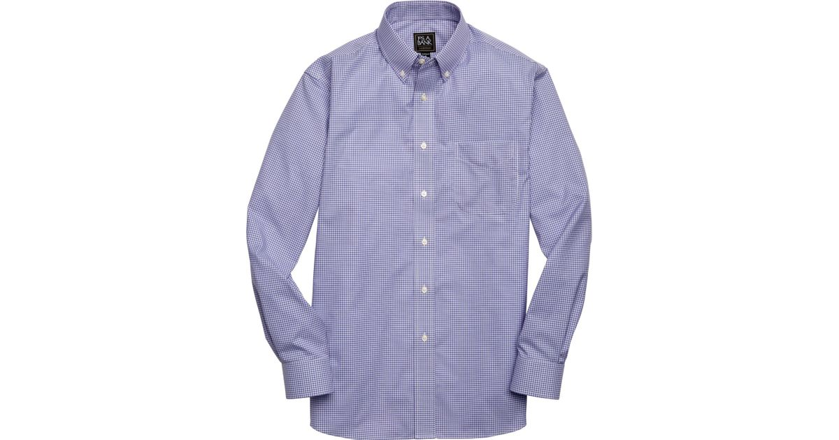 11eea7aadc83 A. Bank Traveler Collection Tailored Fit Button-down Collar Check Sportshirt  in Purple for Men