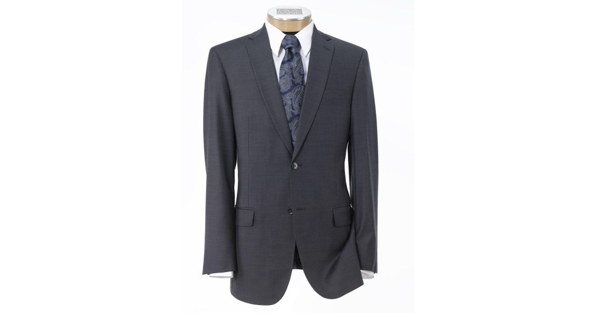 0ad8a549d257 A. Bank Traveler Collection Slim Fit Sharkskin Suit - Big & Tall in Gray  for Men - Lyst