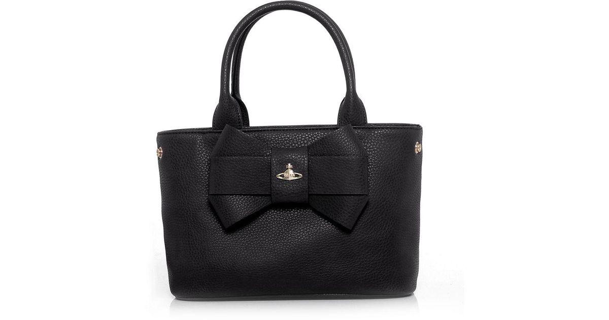 4f9c2455a5 Vivienne Westwood Bow Tote Bag in Black - Lyst