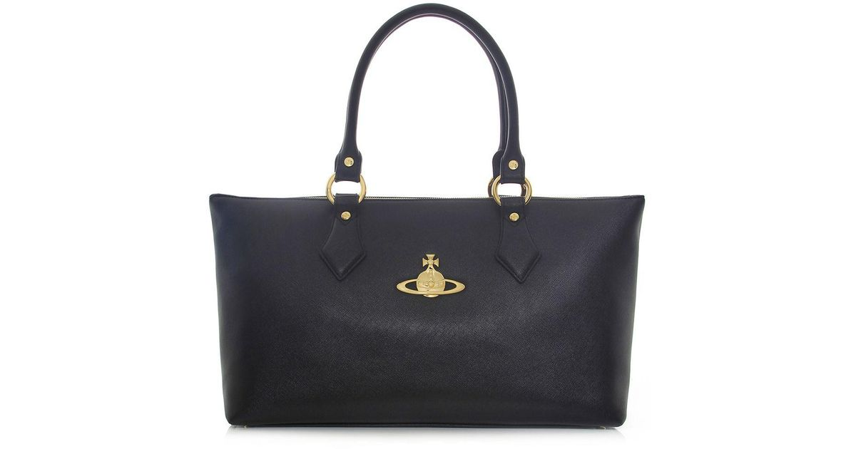 567a235c12 Vivienne Westwood Divina Tote Bag in Black - Lyst