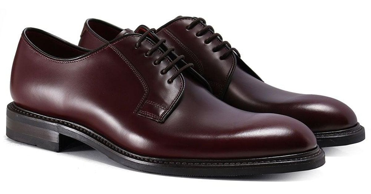 104730e6ebe6b loake leather ghost derby shoes for men lyst; loake nottingham shoes mens  ...