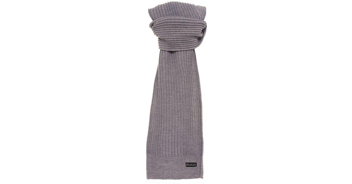 Lyst - Hugo Virgin Wool Zappon Scarf in Gray for Men 462db2c8aa29a