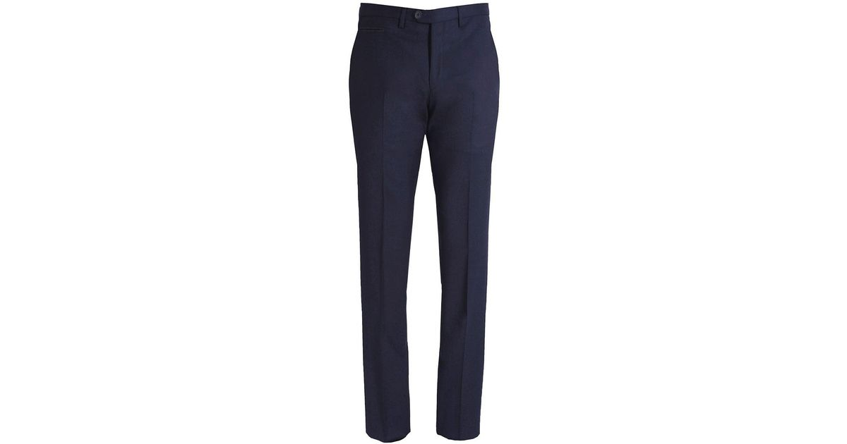 Extra-slim-fit virgin-wool trousers with textured structure HUGO BOSS X7RMd
