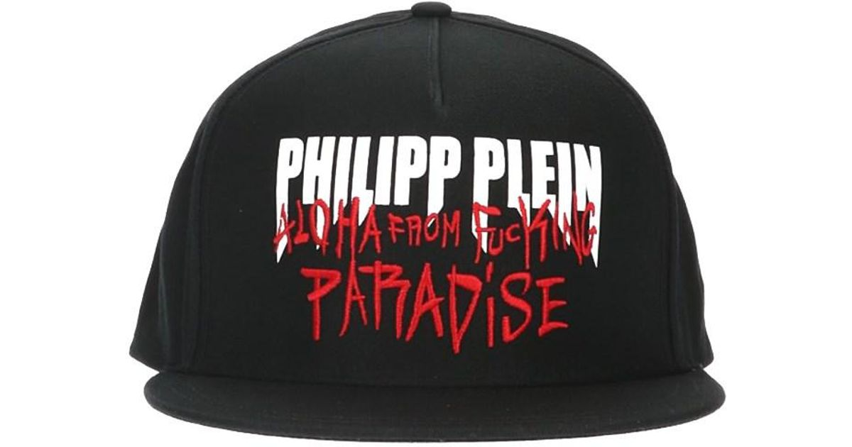 453bed59071e2 Lyst - Philipp Plein  aloha  Cap in Black for Men