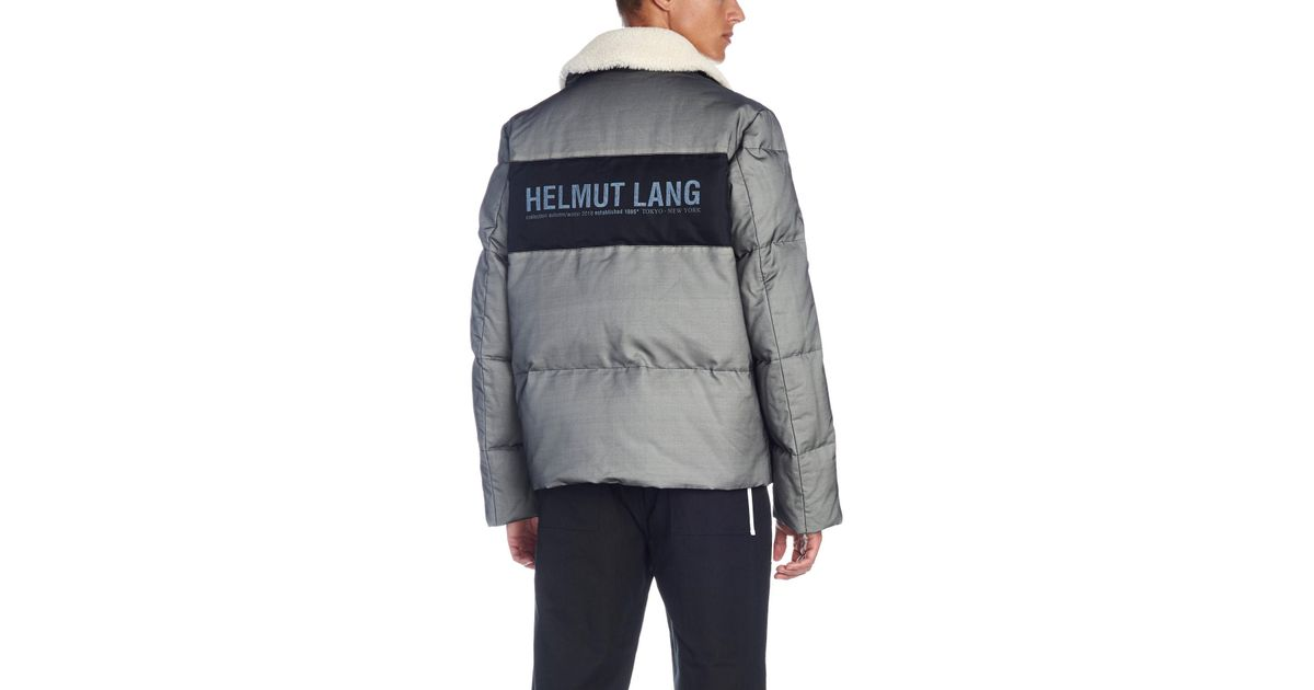 09bf220f5 Lyst - Helmut Lang Down Jacket in Gray for Men
