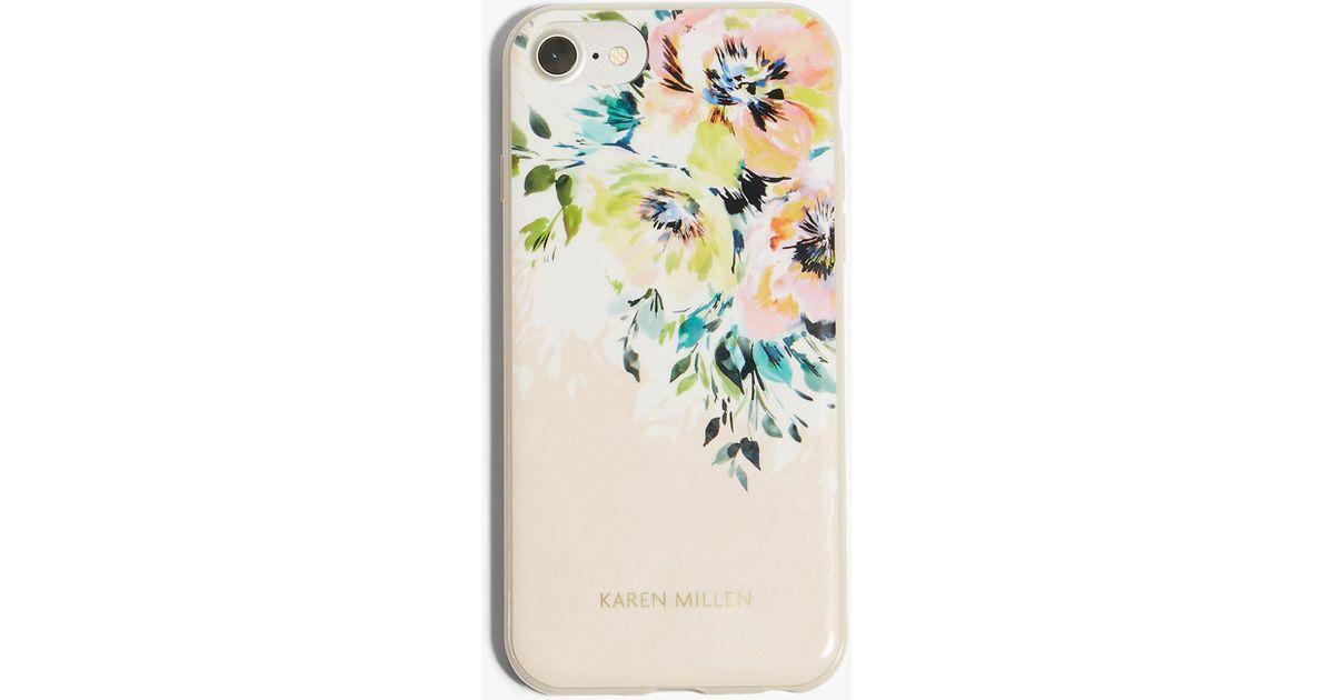 beb762bf9141 Karen Millen Floral Iphone Plus Case - Lyst