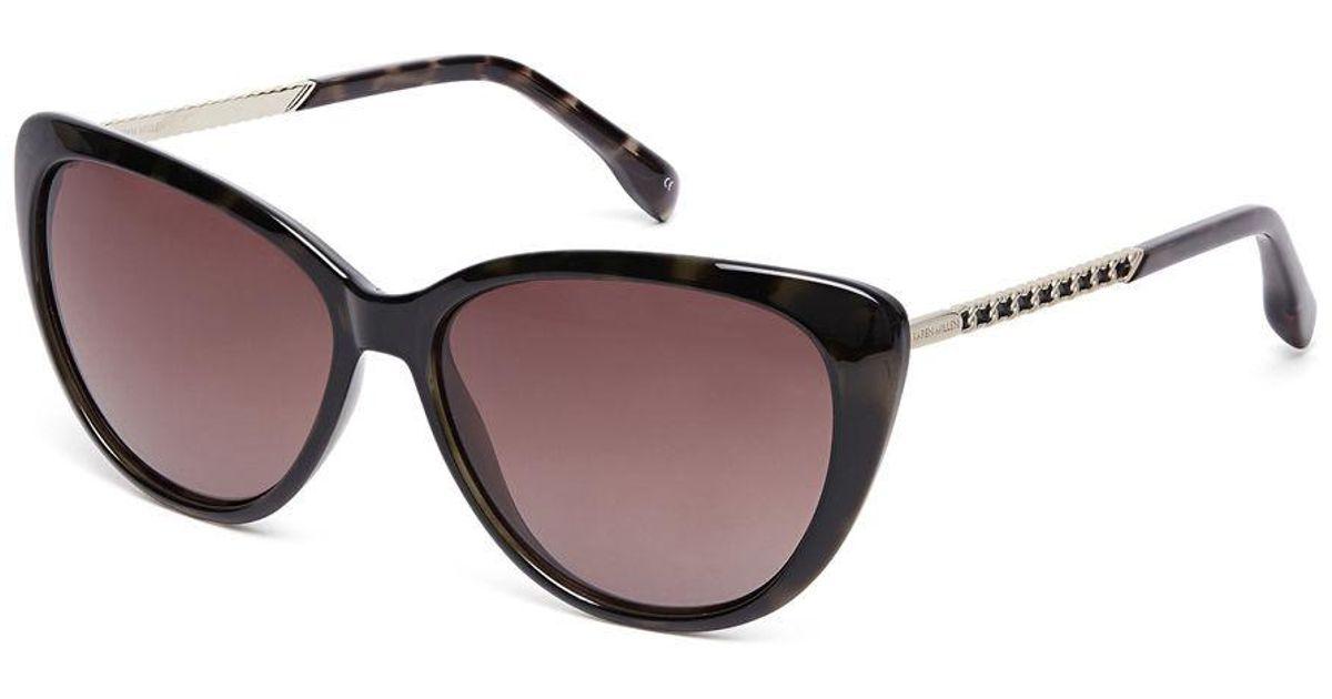 de407530c4 Karen Millen Oversized Cat Eye Sunglasses in Black - Lyst