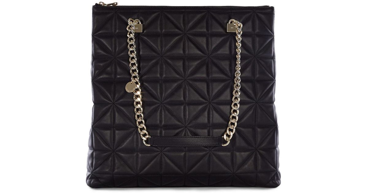 Lyst Karen Millen Quilted Chain Bag Black In Black