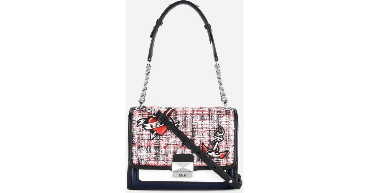 quilted tweed mini tote - Multicolour Karl Lagerfeld 28iEfn9A