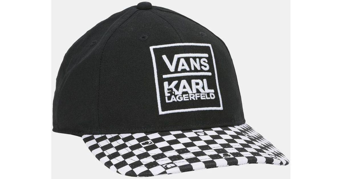 4b2ee187e95437 Karl Lagerfeld Vans X Dugout Baseball Hat in Black for Men - Lyst