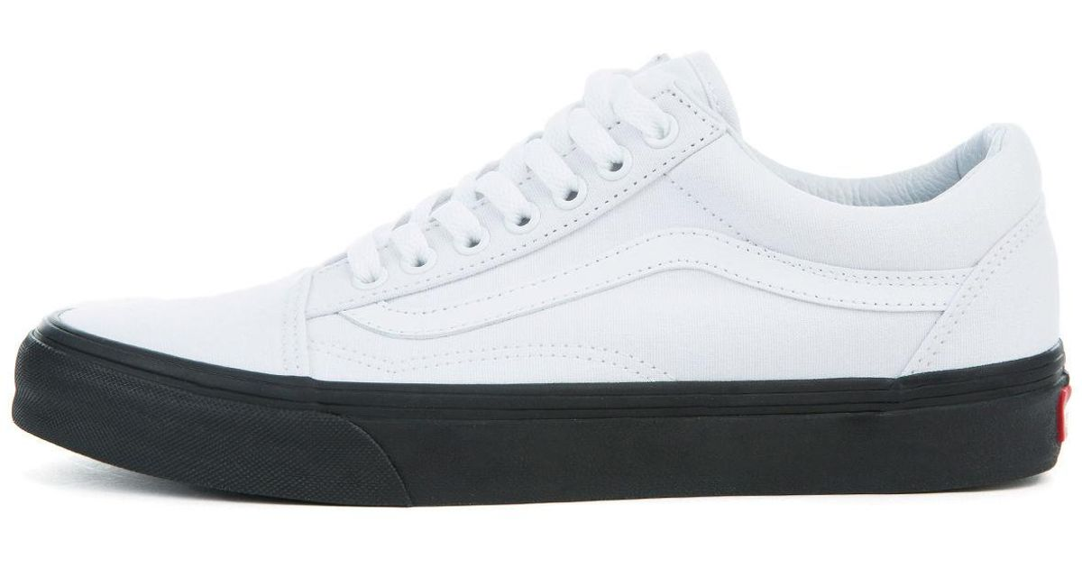 Lyst - Vans The Men s Old Skool In Black Outsole And True White in White  for Men d884759f2694