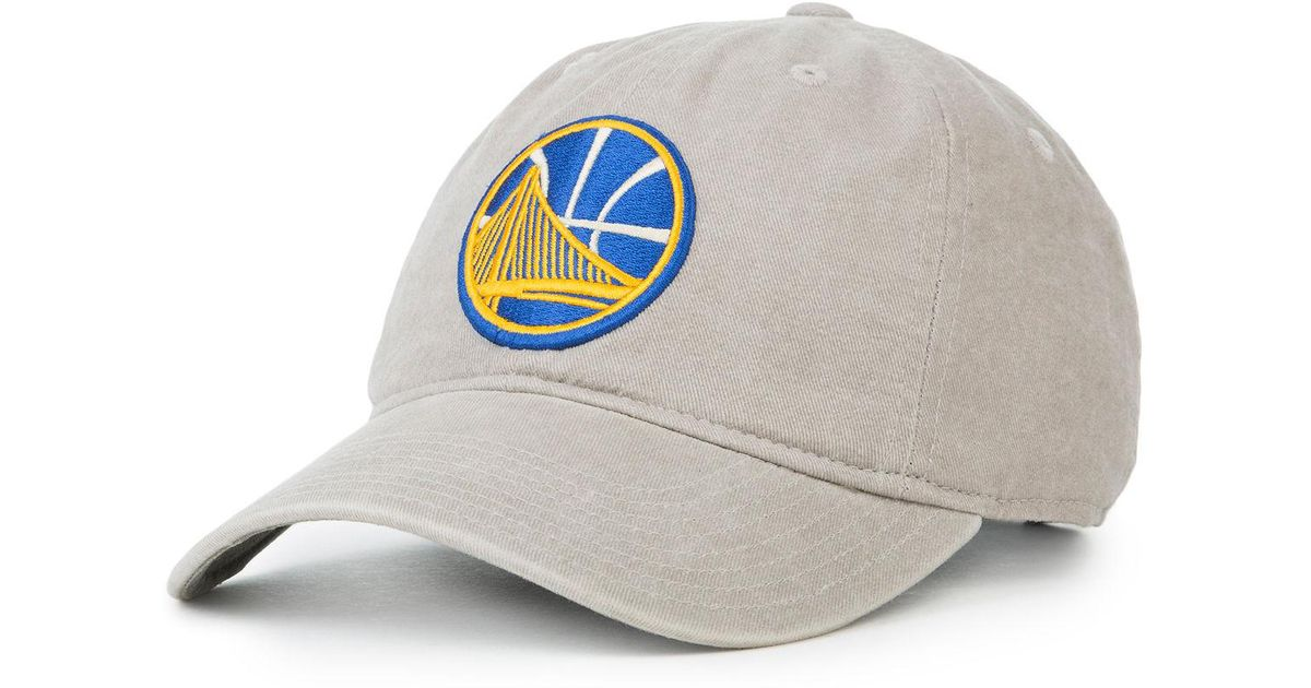 87a1eec93e9 ... buy lyst mitchell ness the golden state warriors dad hat for men 61f6e  4fe02