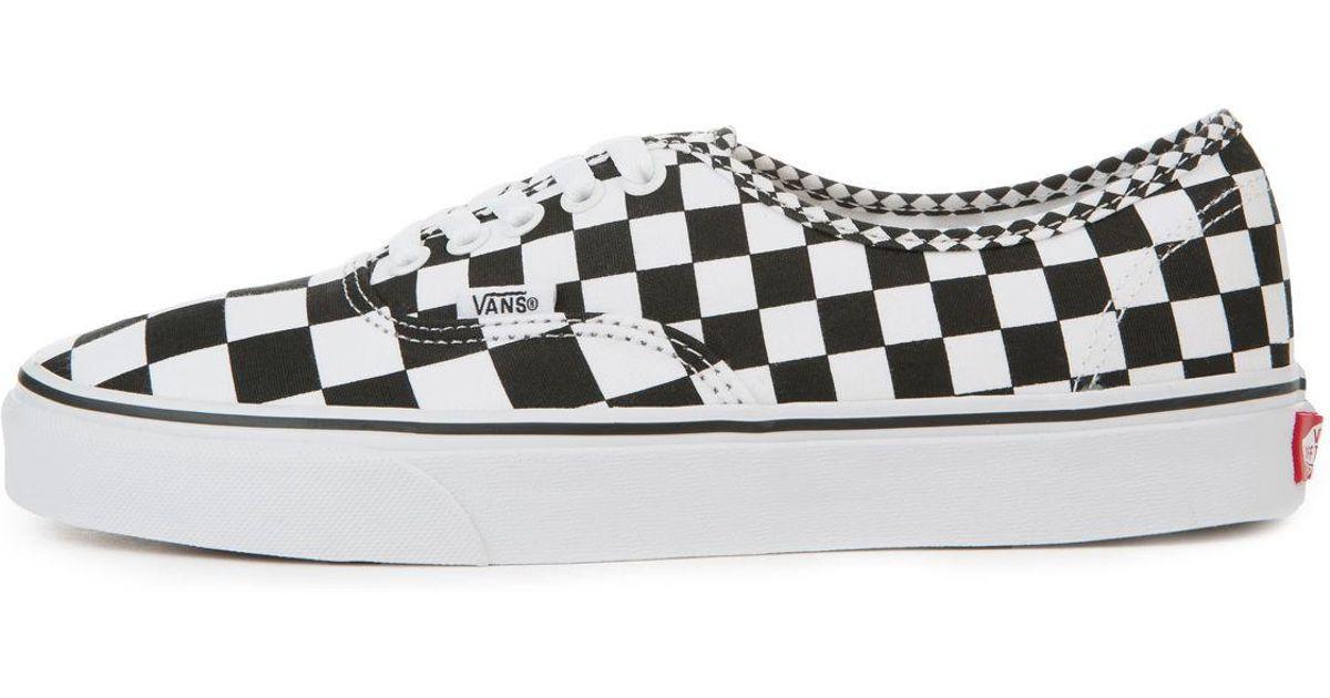 e8ea8b337b8e Lyst - Vans The Men s Authentic In Black And True White Mix Checker in White  for Men