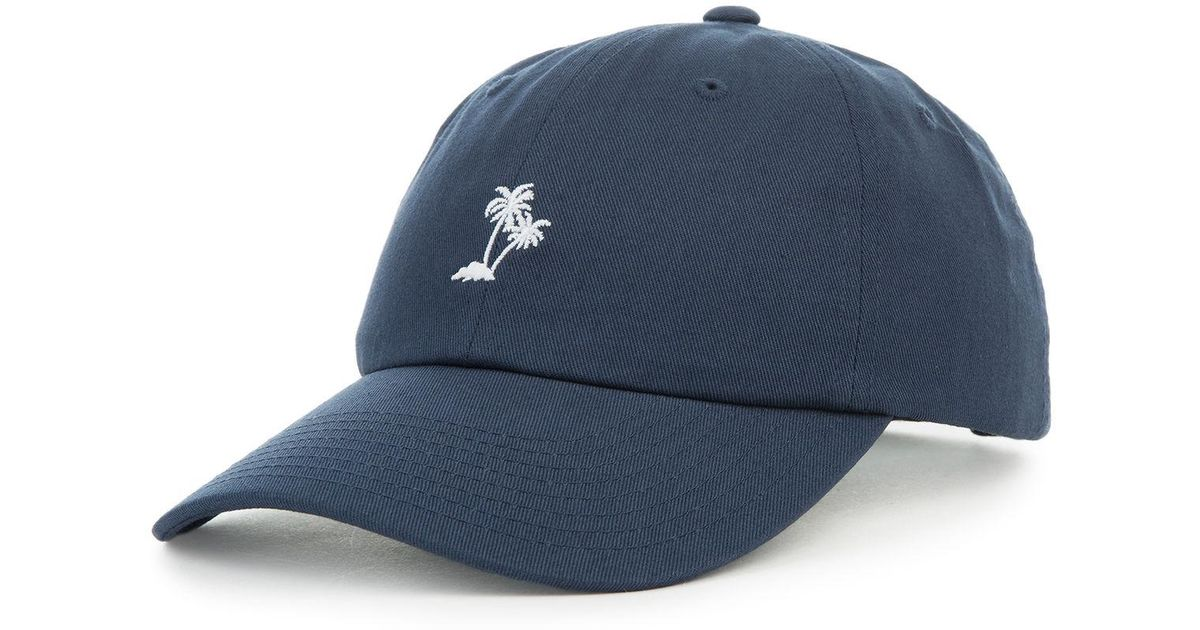 d5ebe9dc0c7 Lyst - Vans The Palm Curved Bill Jockey Dad Cap In Dress Blue in Blue for  Men