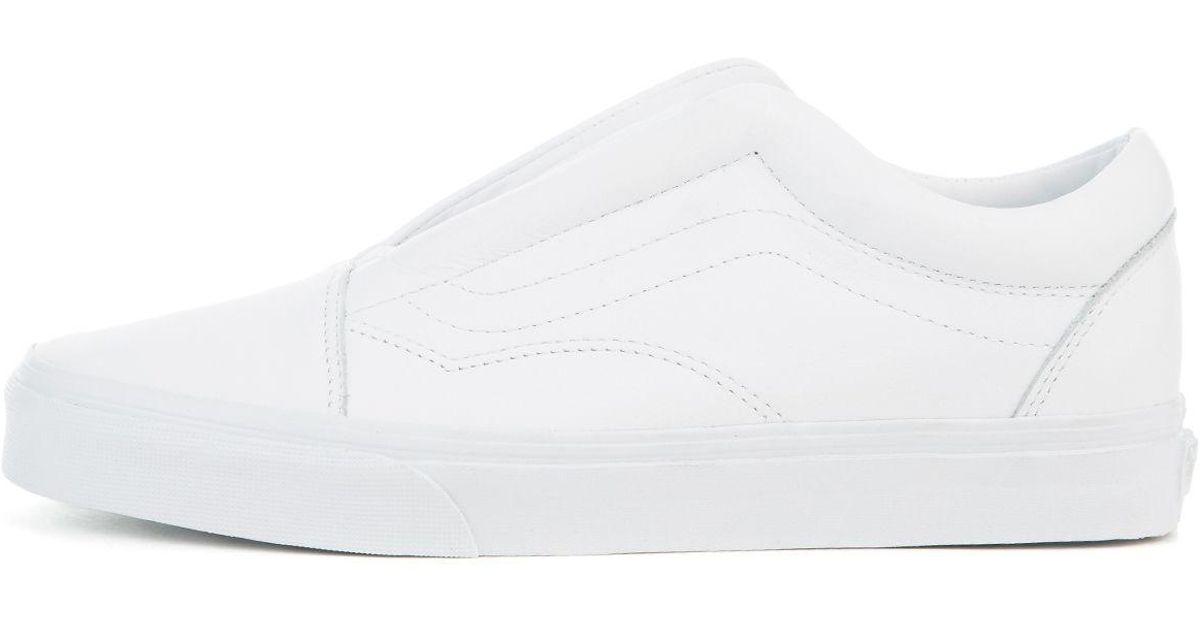 55a5c7aa94 Lyst - Vans The Women s Old Skool Laceless Dx in White
