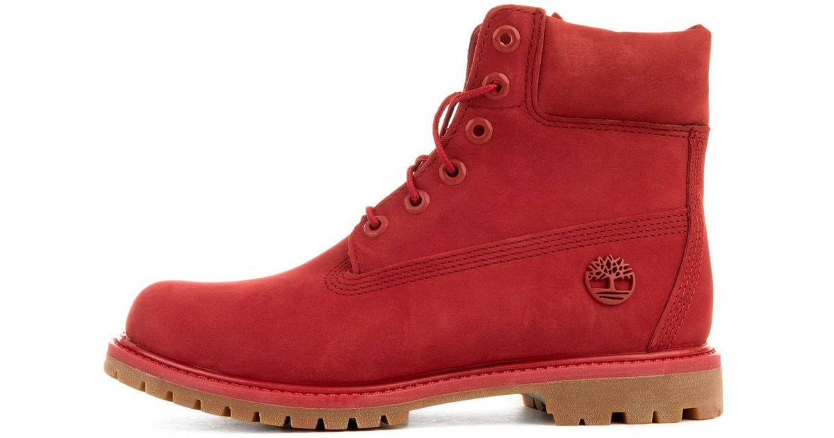 be4816c7b013 Lyst - Timberland The Limited Edition 6 Premium Boot In 40th Ruby Waterbuck  in Red