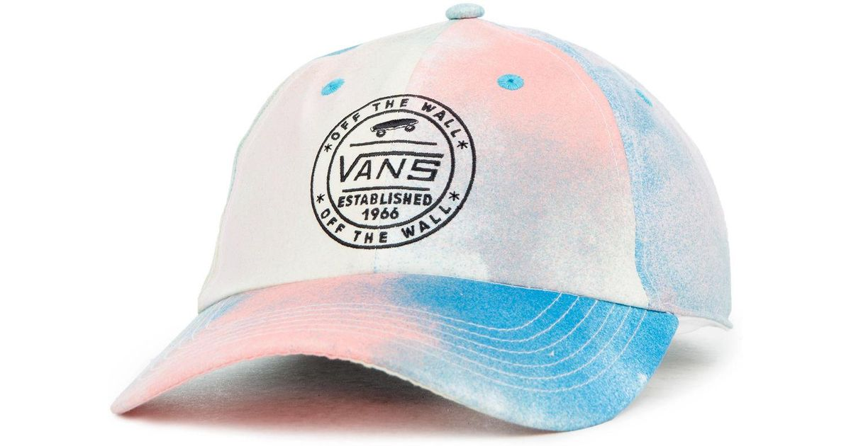 5bd06edf Lyst - Vans The Court Side Printed Dad Hat in Blue