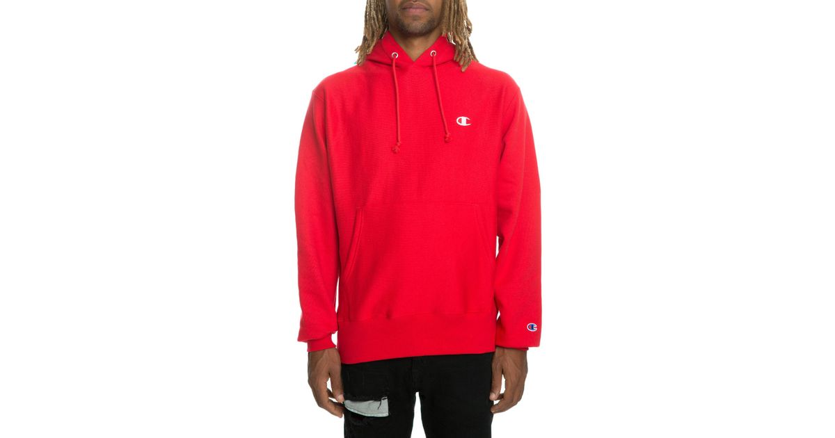 af2bae76b0c9 Lyst - Champion The Reverse Weave Pullover Hoodie In Team Red Scarlet in Red  for Men