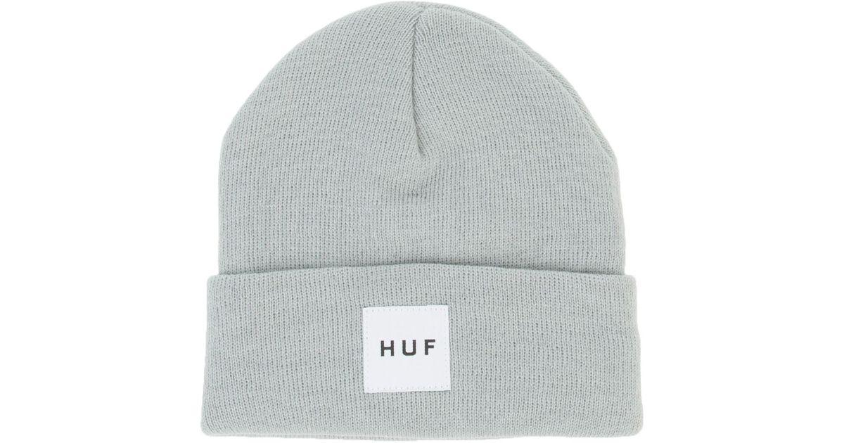 3c3e936c647 Lyst - Huf The Box Logo Beanie in Gray for Men