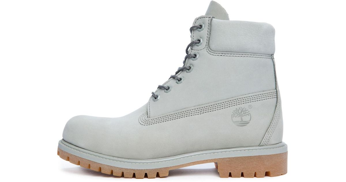 Lyst - Timberland The 6 Premium Boot In Light Grey Nubuck in Gray 7a4fe1e25033
