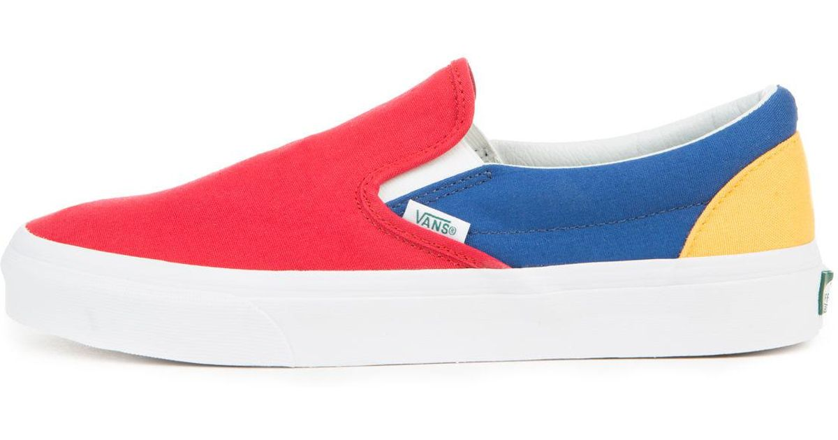 3f43790d417253 Lyst - Vans The Men s Classic Slip-on In Yacht Club Red  Blue And Yellow  for Men