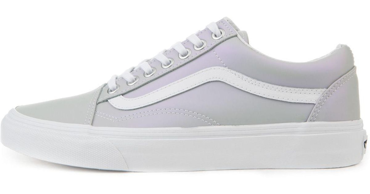 f746acca21 Lyst - Vans The Women s Old Skool Muted Metallic In Gray And Violet in Gray