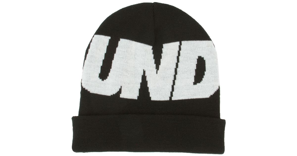 3aea4951ef4 Lyst - Undefeated The Undftd Logo Beanie in Black for Men