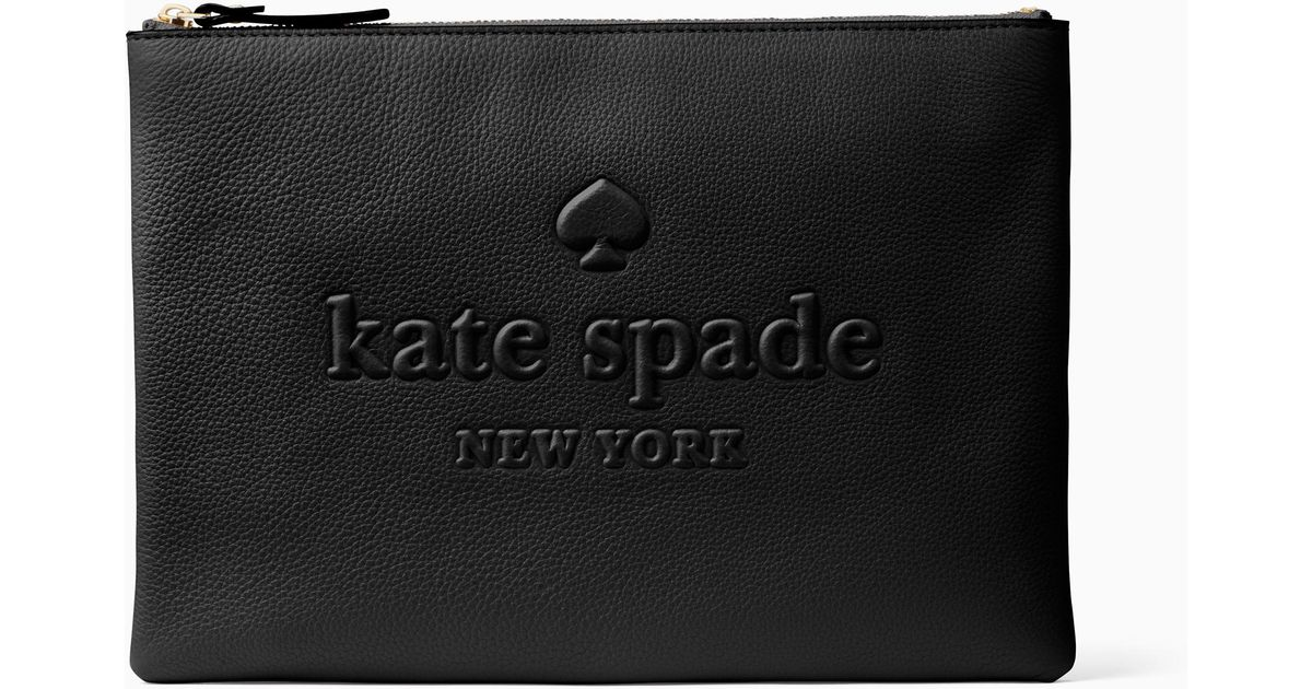 58ee0eec7 Kate Spade Larchmont Avenue Logo Gia in Black - Lyst