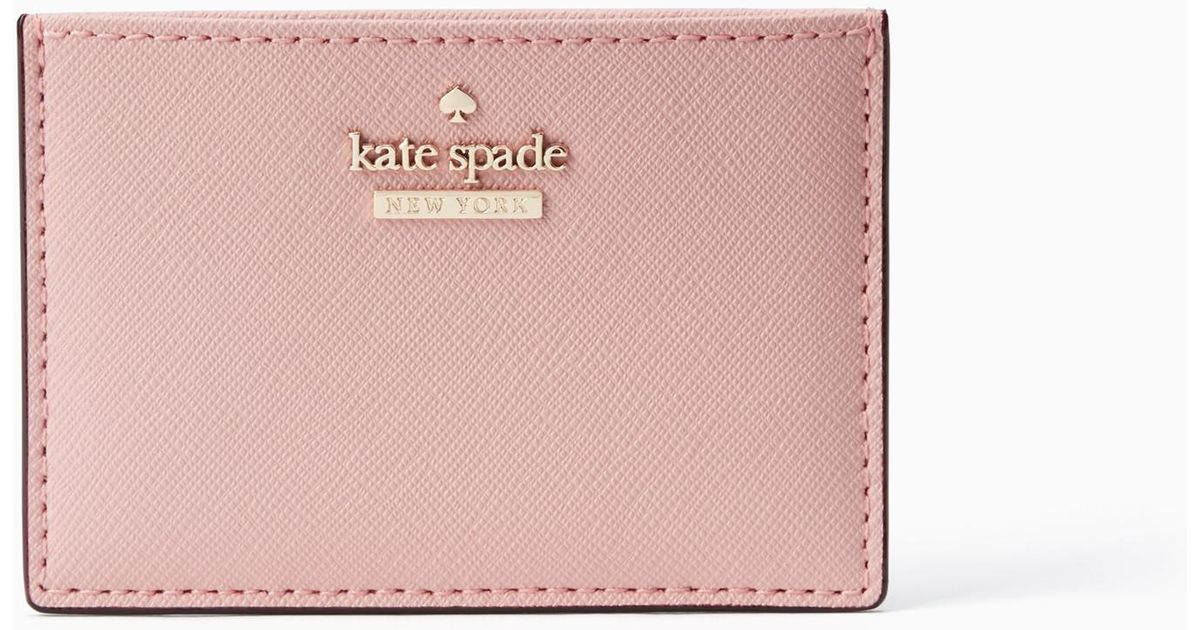 the best attitude f63db b345b Kate Spade - Pink Cameron Street Card Holder - Lyst