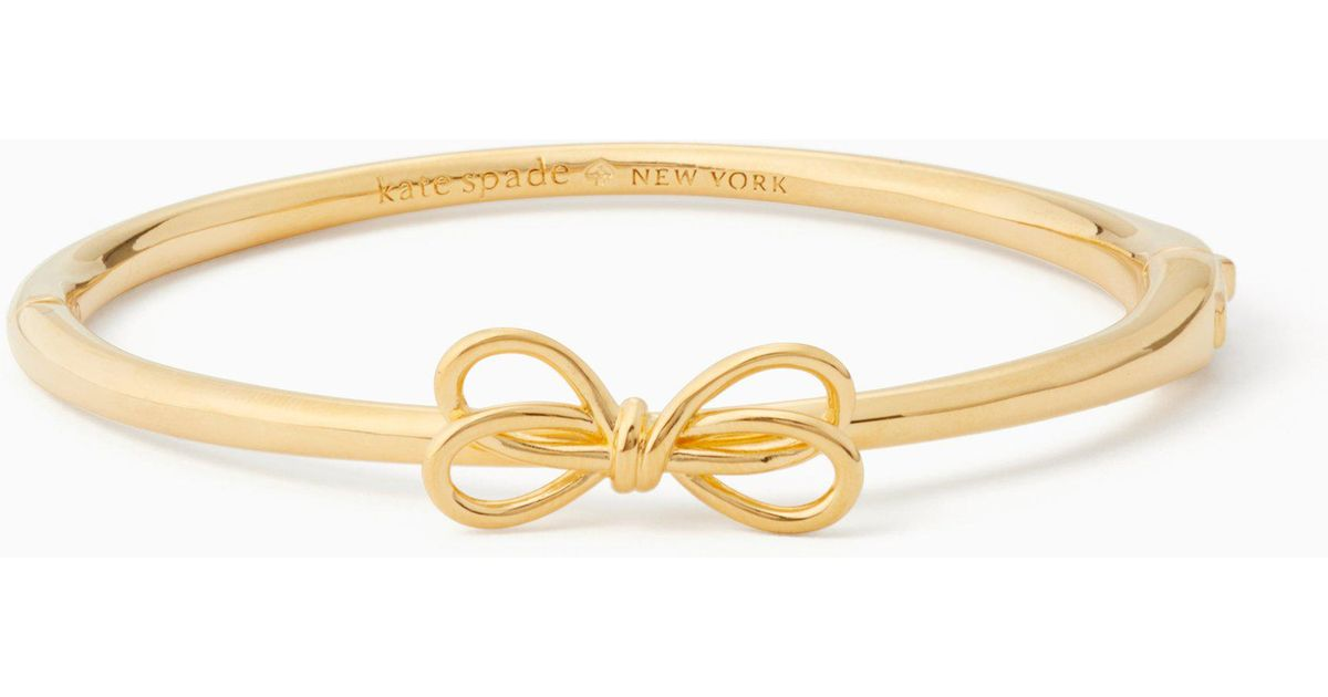 Lyst Kate Spade Bow Meets Girl Bangle In Metallic