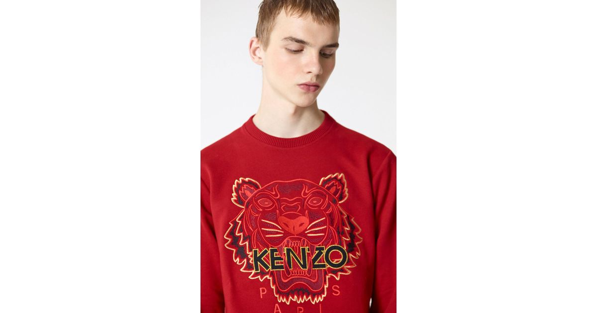 9ce98cd01a8 KENZO 'chinese Ny Capsule Collection' Tiger Sweatshirt in Red for Men - Lyst