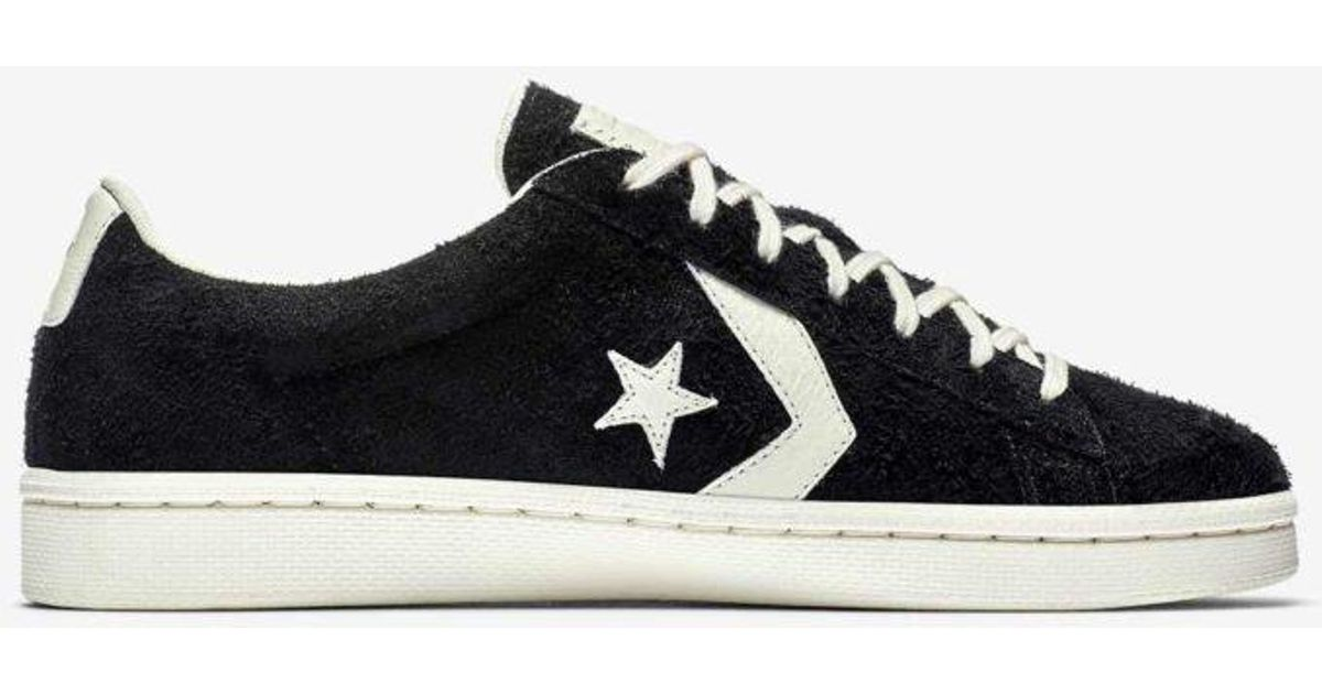 81f3fccd882 ... clearance lyst converse pro leather vintage suede black in black for men  29512 5b748