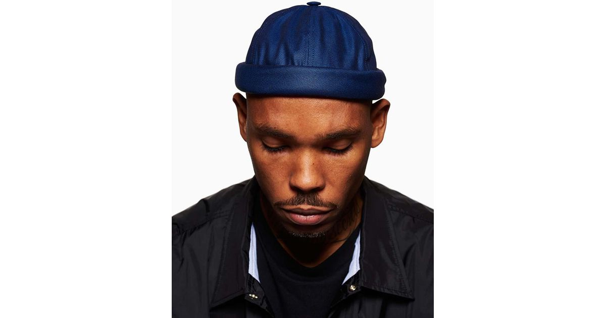 50417e6f924 Lyst - Beton Cire Canvas Miki Hat Navy in Blue for Men